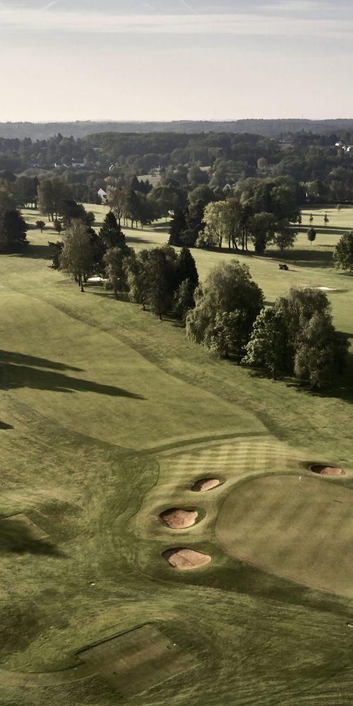 Golf course of Waterloo in Belgium